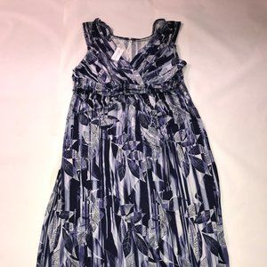 NY Collections Shades of Purple Long Dress NWT